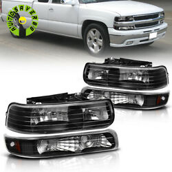 Kyпить FOR 99-02 CHEVY SILVERADO 00-06 TAHOE SUBURBAN BLACK HEADLIGHT BUMPER HEAD LAMP на еВаy.соm