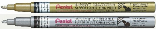 Royaume-UniPentel Super Fin Point  Peinture Stylo - MSP10 - Or Ou Argent