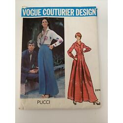 Kyпить 70's Vogue couturier design pattern PUCCI 2874 Skirt Shirt Size 12 Cut/Uncut на еВаy.соm