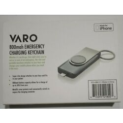 Varo 800mAh Emergency Charge Keychain- Made for IPhone- NEW