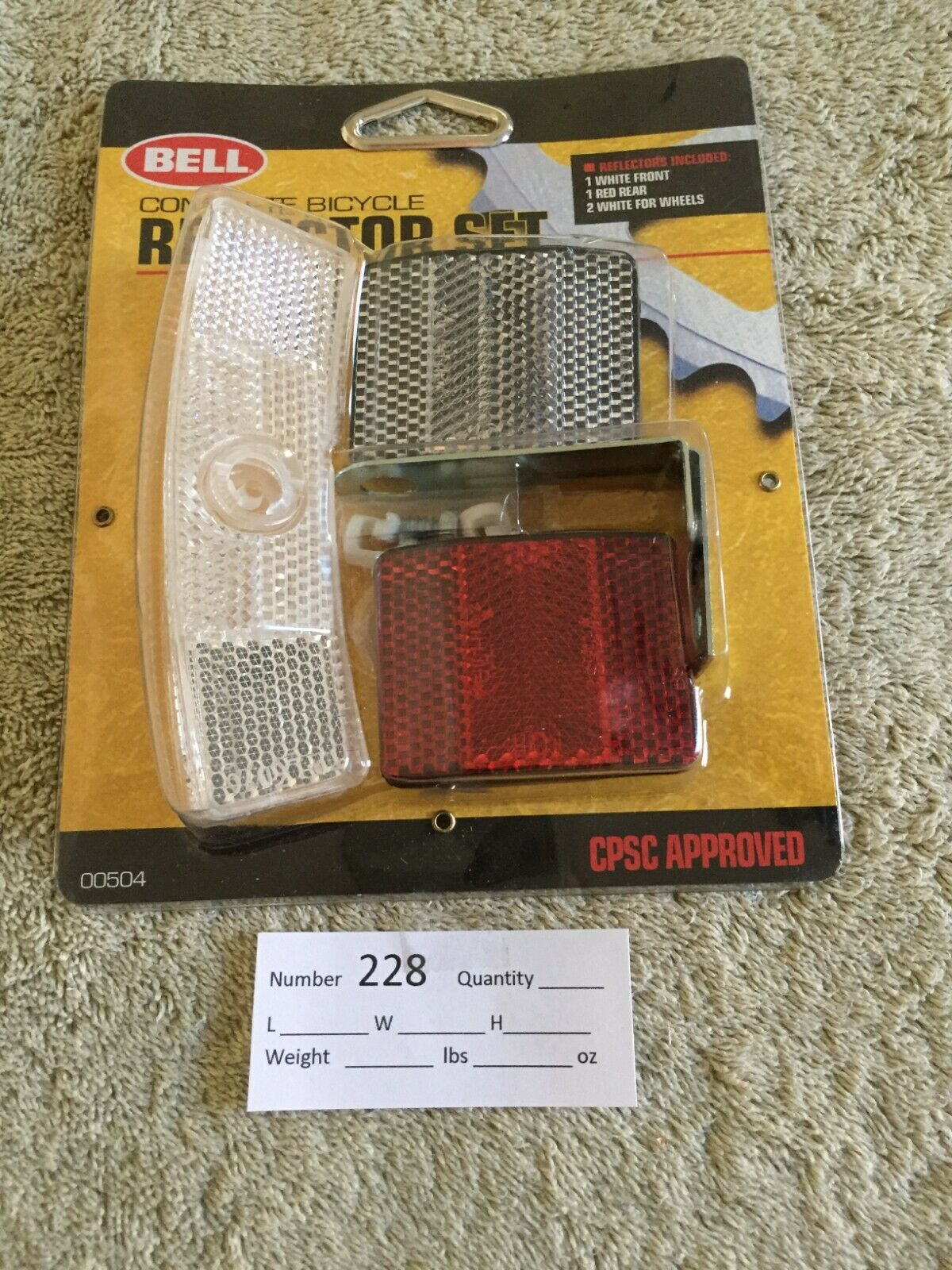 Bell Complete Bicycle Reflector Set 00504