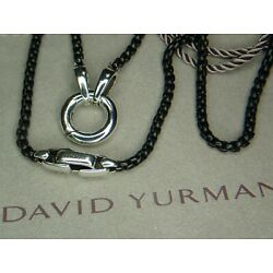 Kyпить 21.3 Grams David Yurman Stainless Steel Sterling Silver Carabiner Necklace Chain на еВаy.соm