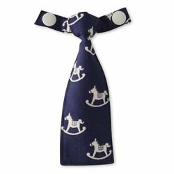 Kyпить bib-bab Tie Rocking Horse (Navy Blue x White) Made in Japan cute for gift на еВаy.соm