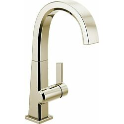 Kyпить Delta 1993LF-PN Pivotal Single-Handle Bar-Prep Kitchen Faucet in Polished Nickel на еВаy.соm