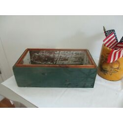 Kyпить Old green paint wood box. Refurbished. на еВаy.соm