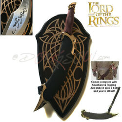Kyпить LOTR Lord of the Rings Elf Arwen Elven Fighter Sword Dagger of Aragorn w. Plaque на еВаy.соm