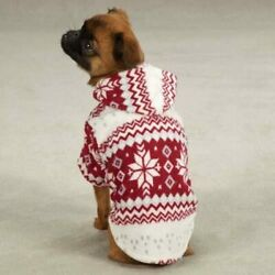 Casual Canine Snowdrift Cuddler Dog Puppy Sweater Hoodie Snowflakes NEW w/Tag