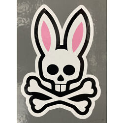 Psycho Bunny Vinyl Decal (2)4.12  tall x 3  wide Pick The Color Of Your Choice
