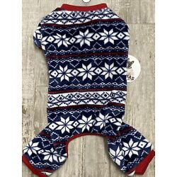 LuvGear Navy Velour CHRISTMAS JUMPSUIT/PAJAMAS Dog/Puppy S