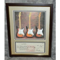 Kyпить Fender Stratocaster Photo Matted w/ Leo Fender 1967 Signed Autographed Check  на еВаy.соm