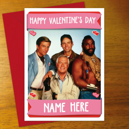 img-A-TEAM Personalised VALENTINE'S DAY Card - personalized anniversary mr.T a team