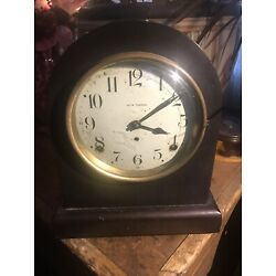 Kyпить 89AL Seth Thomas Beehive Mantel Clock Working Gong Chime Antique W Key Pendulum на еВаy.соm