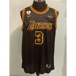 Kyпить NBA Mens Los Angeles Lakers #3 Anthony Davis Black snakeskin Basketball Jersey на еВаy.соm
