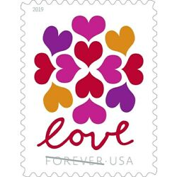 Kyпить 300 (15 x 20) USPS Forever Love Hearts Blossom Stamps First Class Ship From USA на еВаy.соm