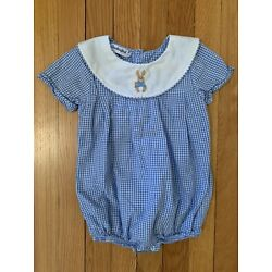 Kyпить Smockingbird Embroidered Peter Rabbit Bunny ???? Bubble Size 2T. Easter на еВаy.соm