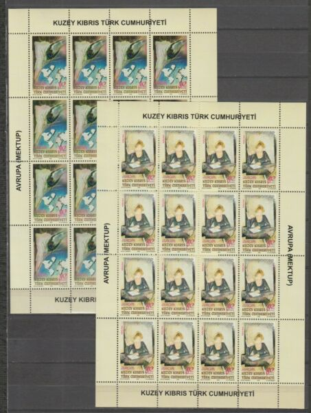 Italiens36924 TURKISH CYPRUS EUROPA CEPT MNH** 2008 MSx2 THE LETTER
