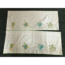 "Kyпить Pottery Barn Kids VALANCES,2, Fish Theme, Appliqué,18"" X44"" на еВаy.соm"