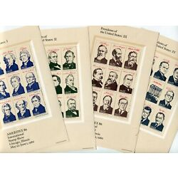 Kyпить US 2216-19 Ameripex 86 Presidents of the U.S. Souvenir Sheet Set of 4 Very Fine на еВаy.соm