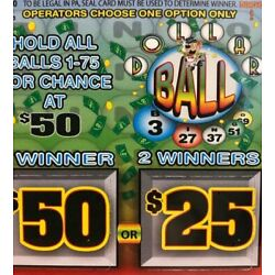 Kyпить 1 Window DOLLAR BALL Pull Tab Ticket- 75ct (2 pack) - w/ FREE SHIPPING    на еВаy.соm