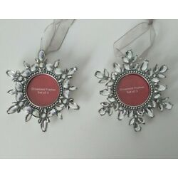 Kyпить  Snowflake Photo Frame Jeweled Picture Frame Ornaments Set Of 2  на еВаy.соm