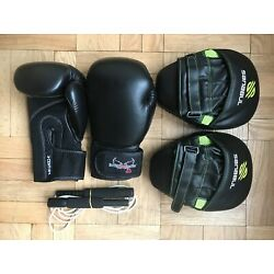 Kyпить Sanabul Essential Curved Boxing Punch Mitts, I love kickboxing Gloves, Jump Rope на еВаy.соm