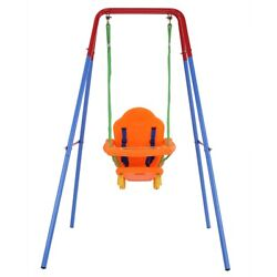 Kyпить Baby Toddler Indoor/Outdoor Metal Swing Set with Safety Seat New на еВаy.соm