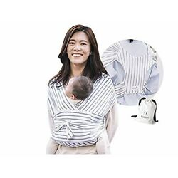 Kyпить Konny White Gray Baby Wrap Carrier Light Weight Size Small Inv#0076 на еВаy.соm
