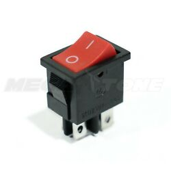 DPST KCD1 Red Mini Rocker Switch On-Off 6A/250VAC T85 High Quality - USA SELLER!