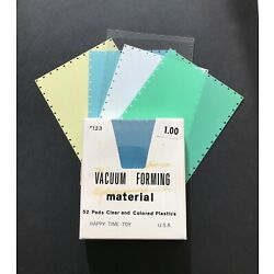 Kyпить Vintage NOS Vacuum Forming Vacu Form Material 52 Colored Sheets For Mattel Toy на еВаy.соm