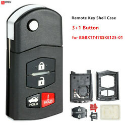 4 Button Replacement Remote Key Fob Case Shell Blade For Mazda 3 5 6 RX8 CX7 CX9