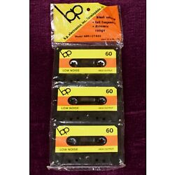 3 Pack Blank Cassette Tapes - BP Electronics - Low Noise/High Output