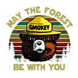 Smokey the Bear MAY FOREST BE WITH YOU Star Wars Durable Vinyl Decal Friends