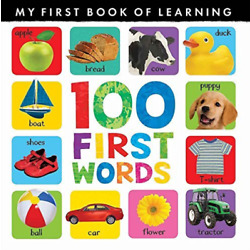 Little Tiger Press (Cor)-100 First Words BOOK NEW