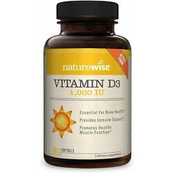 Kyпить NatureWise Vitamin D3 1000iu (25 mcg), Mini Softgels, 360 Count (Pack of 1)  на еВаy.соm
