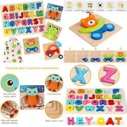 Kyпить Wooden Jigsaw Puzzles, Animal And Alphabet Puzzle, Early Learning Educational To на еВаy.соm