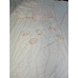 Kyпить Crate & Barrell Kids Land of Nod Pink Stemmed Flowers Duvet Set Girl Full/Queen на еВаy.соm