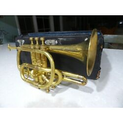 Kyпить 1903 Lyon & Healy Own Make Cornet in case with extras Gold Plated на еВаy.соm