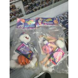 Kyпить 1996 Lot 2 Space Jam McDonalds Plush ~ Bugs Bunny and Lola SEALED WITH DAMAGE на еВаy.соm