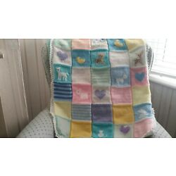 Kyпить HAND KNITTED BABY BLANKET BY SALLY KELLY   lovely hand knitted baby blanket  на еВаy.соm