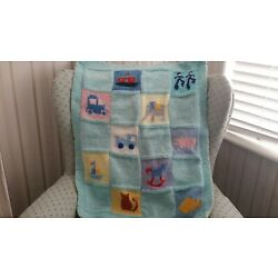 Kyпить HAND KNITTED BABY BLANKET BY SALLY KELLY    на еВаy.соm