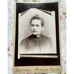 Kyпить Victorian Mourning Photo Memorial Cabinet Card Woman In Scroll Motif Antique на еВаy.соm