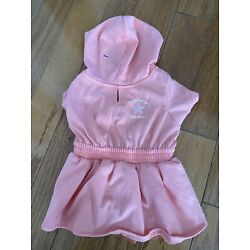 bond & co coral hooded starfish dog dress size small