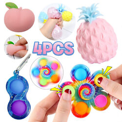 Kyпить 4pcs Cheap Figet Toys Anti Stress Sets Simple Dimple Relief Spinner Keychain Toy на еВаy.соm