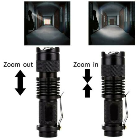 img-1pcs Flashlight LED Torch Light Portable Military Outdoor Hiking Camping Lamp