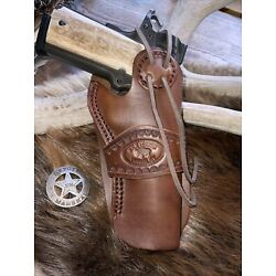 1911 wild bunch style leather holster, western, full size 1911 (L 37)