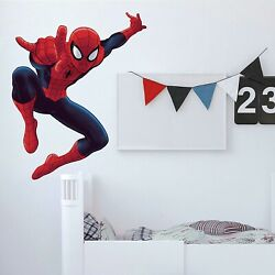 53  ULTIMATE SPIDERMAN Peel & Stick Giant Wall Decals Boys Room Marvel Stickers