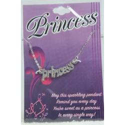 'Princess' By DMM Childs Necklace Silvertone #JFY-NEK NEW In Package
