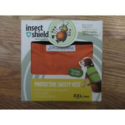 Insect Shield Protective Safety Vest with Built-In Bug Repellent for Dog XXL ong