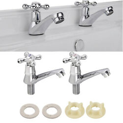 Pairs Single Hole Faucet Cold&Hot Water Tap Bathroom Basin Wash Sink Accessories