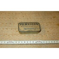 Kyпить Two EMPTY Glass TUBE with inscription PERVITIN in a metal box   ---  RARE  --  на еВаy.соm